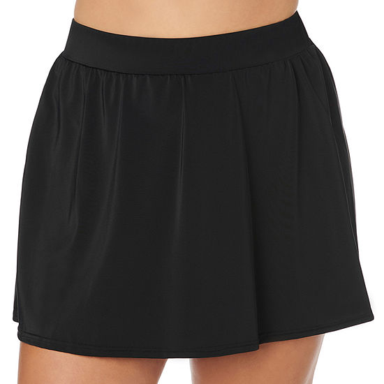 Trimshaper Slimming Control Womens Swim Skirt Plus