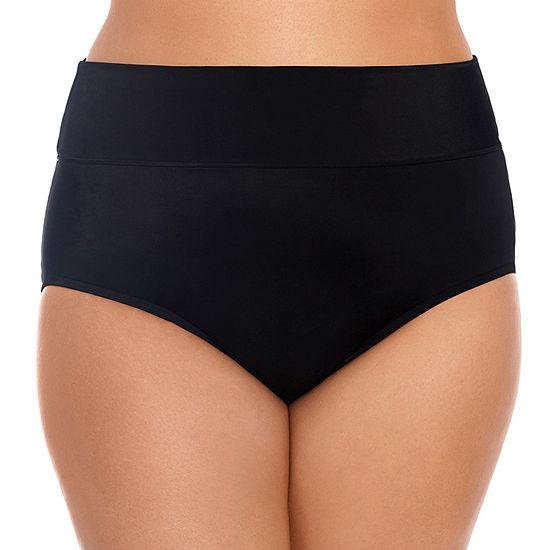 Trimshaper Slimming Control Brief Bikini Swimsuit Bottom Plus