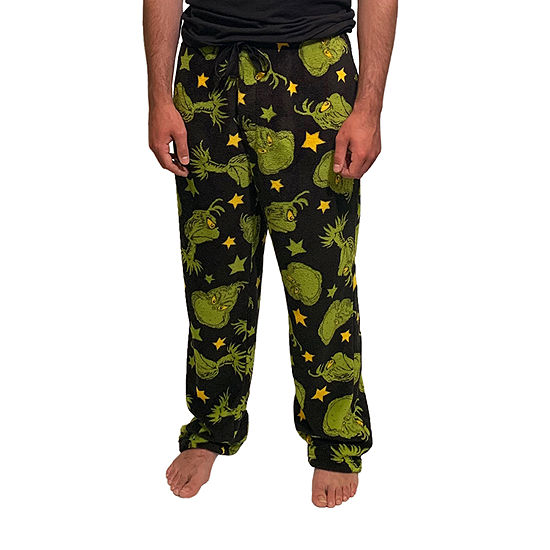 Mens Plush Grinch Pajama Pants