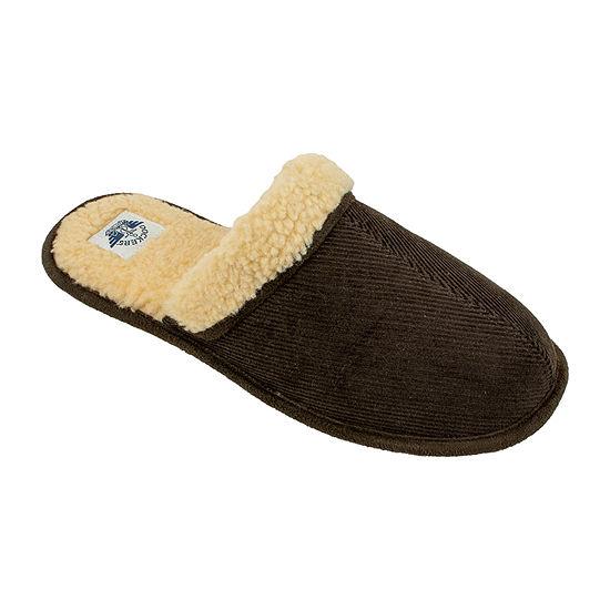 Dockers® Wide Width Sherpa Corduroy Scuff Slippers