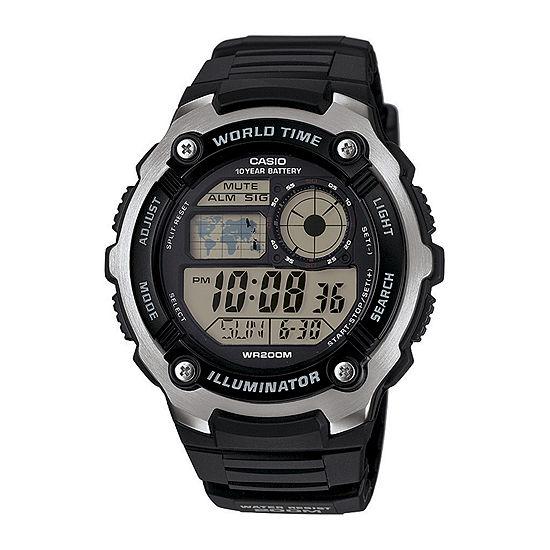 Casio Mens Blue Strap Watch-Ae2100w-1av