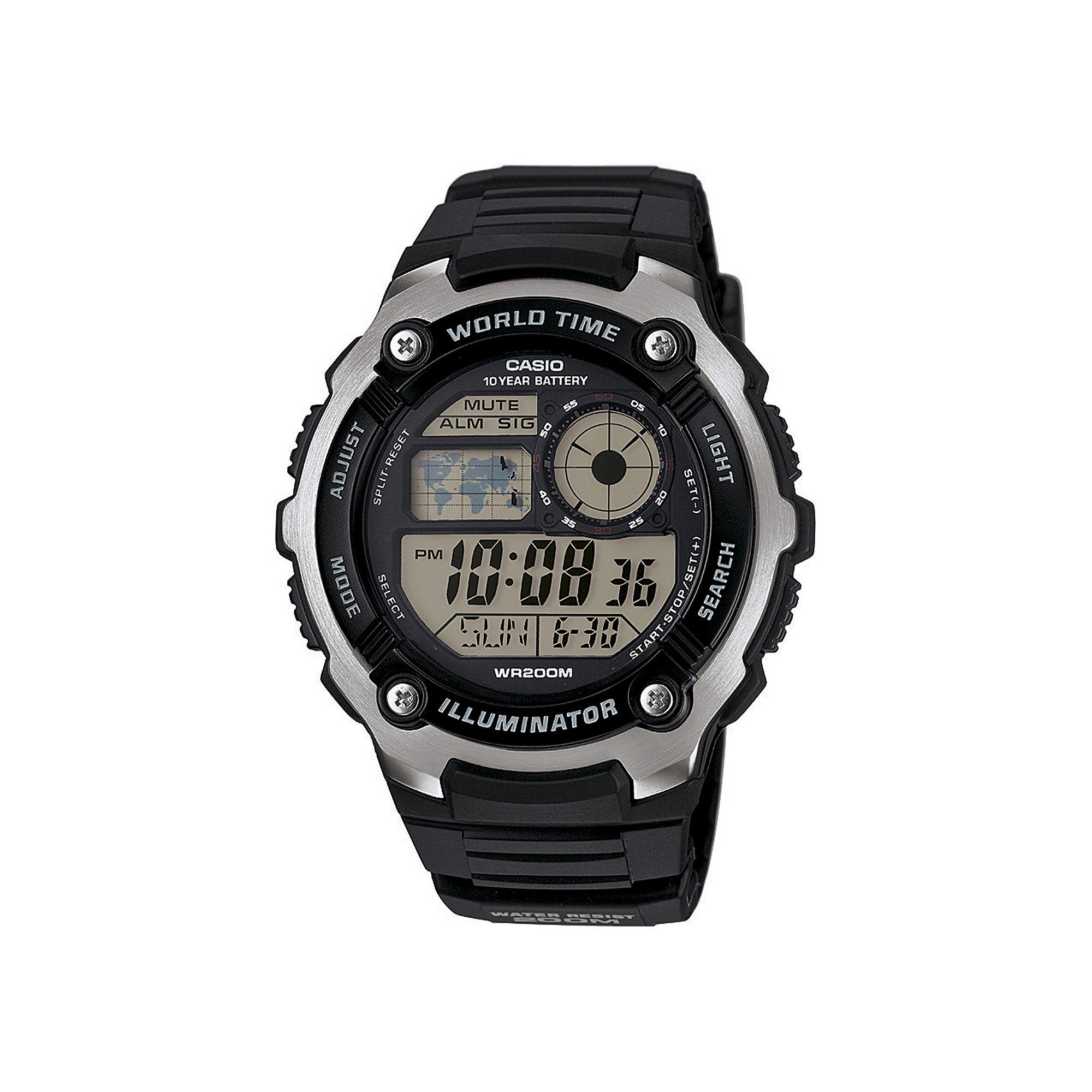 Casio Illuminator Mens Sport Watch AE2100W-1AV