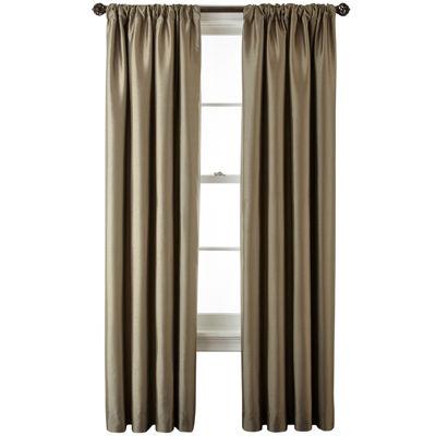Royal Velvet® Plaza Lined Blackout Rod-Pocket/Back-Tab Curtain Panel