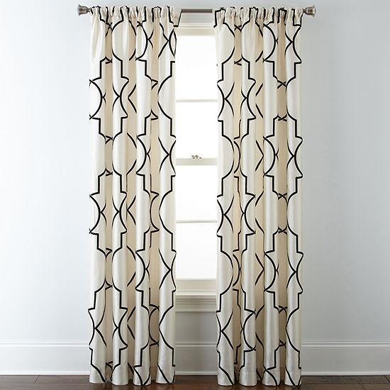 Liz Claiborne Light-Filtering Rod-Pocket Single Curtain Panel