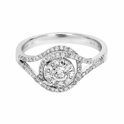 LIMITED QUANTITIES! Womens 1/2 CT. T.W. Round White Diamond 10K Gold Engagement Ring