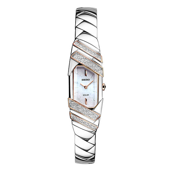 Seiko Womens Silver Tone Stainless Steel Bracelet Watch-Sup332