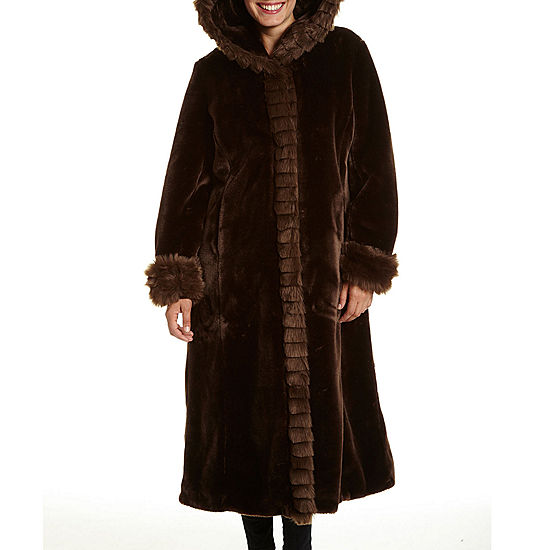 Excelled® Faux-Fur Long Solid Coat
