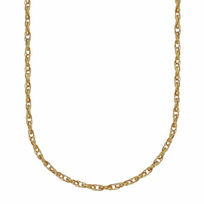 18K Yellow Gold Hollow Rolo Chain Necklace