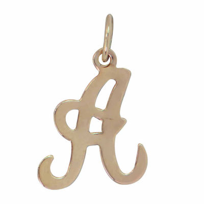 Personalized 14K Yellow Gold Initial A Pendant Necklace