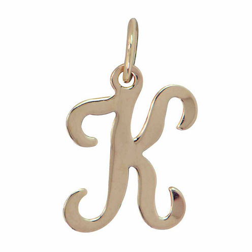 Personalized 14K Yellow Gold Initial K Pendant Necklace