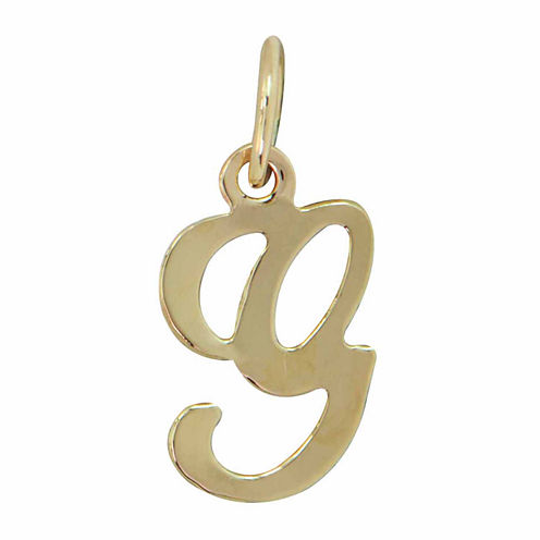 Personalized 14K Yellow Gold Initial G Pendant Necklace