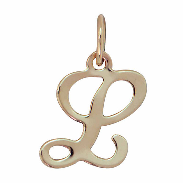 Personalized 14K Yellow Gold Initial L Pendant Necklace