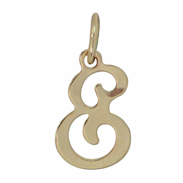 Personalized 14K Yellow Gold Initial E Pendant Necklace