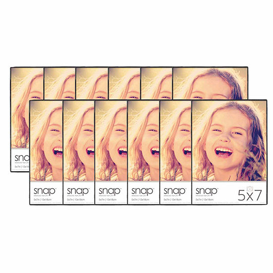 "Snap 5x7"" Front Loading Frame- Set of 12"
