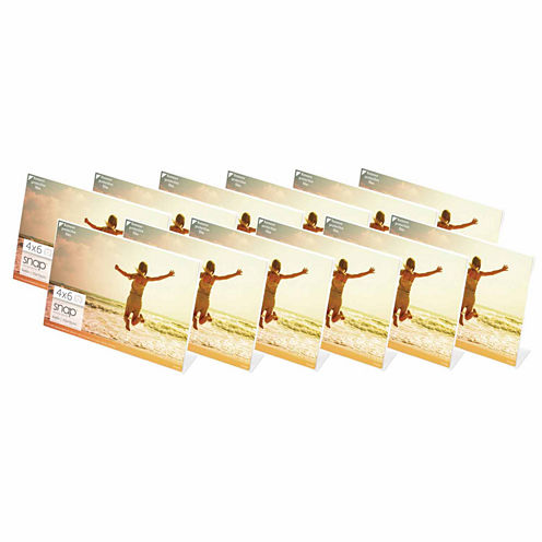 "Snap 6x4"" Horizontal Acrylic Frame- Set of 12"""