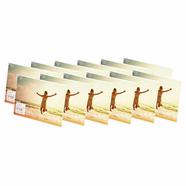 "Snap 7x5"" Horizontal Acrylic Frame- Set of 12"""