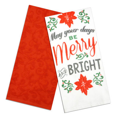 North Pole Trading Co. Merry & Bright 2-pack Kitchen Towel