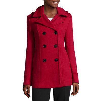 Liz Claiborne® Fleece Hooded Peacoat