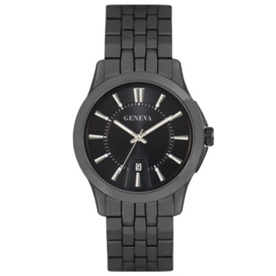 Geneva Mens Black Bracelet Watch-Jry1771gu