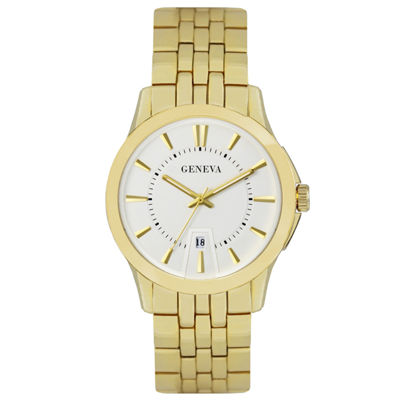 Geneva Mens Gold Tone Bracelet Watch-Jry1771gd