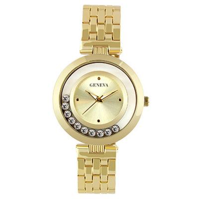Geneva Womens Gold Tone Bracelet Watch-Jry6404gd