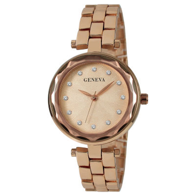 Geneva Womens Rose Goldtone Bracelet Watch-Jry1828rg