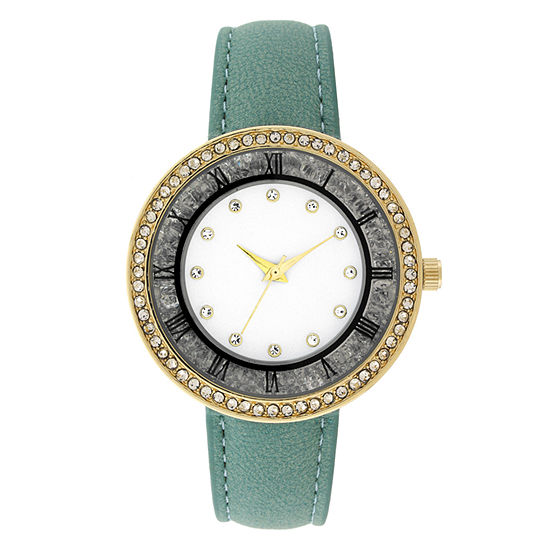 Geneva Womens Green Strap Watch-18148