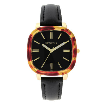 Geneva Womens Black Strap Watch-18152