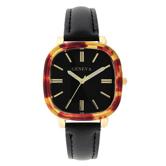 Geneva Womens Black Strap Watch-18152
