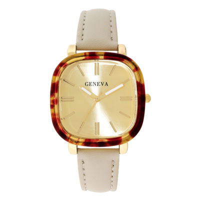 Geneva Womens White Strap Watch-18153