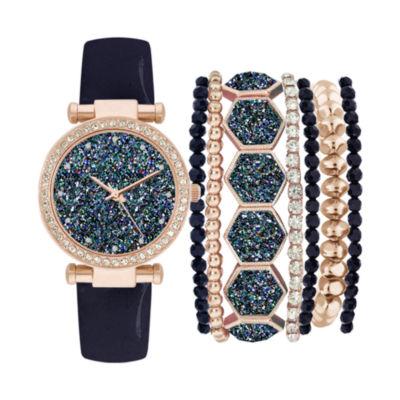 Womens Blue Strap Watch-Jc1747rg569-007