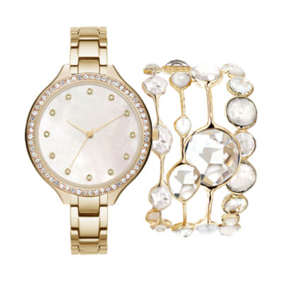 Womens Gold Tone Bracelet Watch-Jc2103g569-005