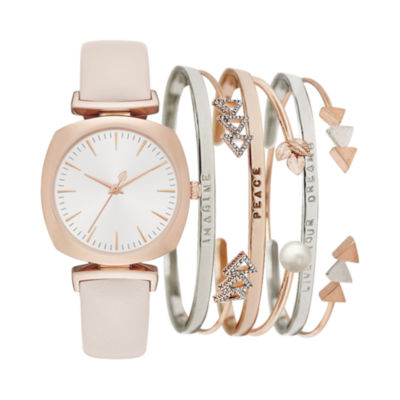 Womens Pink Strap Watch-Jc2492rg569-0aa