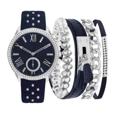 Womens Blue Strap Watch-Jc2383s569-007