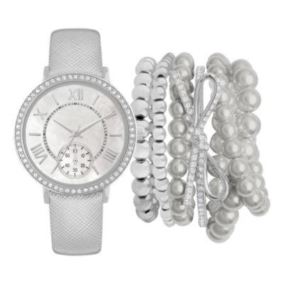 Womens Silver Tone Strap Watch-Jc2405s569-004