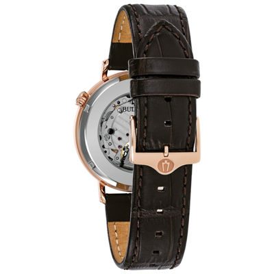 Bulova Mens Brown Strap Watch-97a136