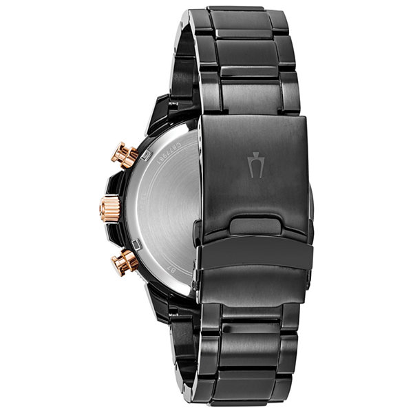 Bulova Mens Black Bracelet Watch-98b302