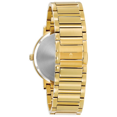 Bulova Mens Gold Tone Bracelet Watch-97d115