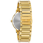 Bulova Futuro Mens Diamond Accent Gold Tone Stainless Steel Bracelet Watch-97d116