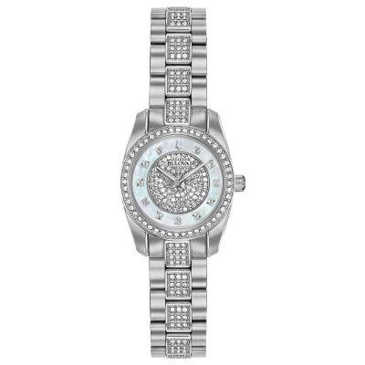 Bulova Womens Silver Tone Bracelet Watch-96l253