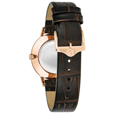 Bulova Womens Brown Strap Watch-97p122