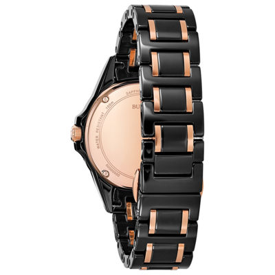 Bulova Womens Two Tone Strap Watch-98r242