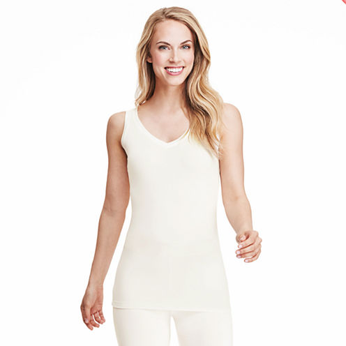 Cuddl Duds® Softwear Reversible V-Neck/Scoopneck Tank Top