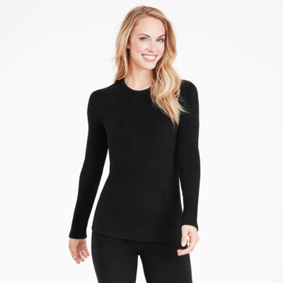Cuddl Duds® Fleecewear Long-Sleeve Crewneck Shirt - Petite
