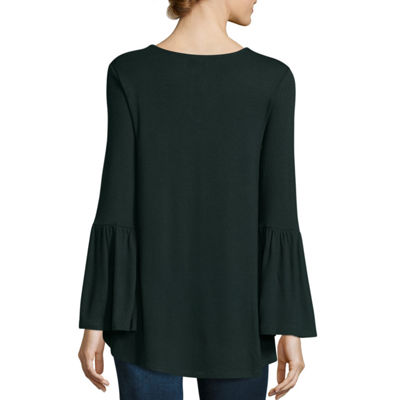 A.N.A Bell Sleeve Knit Blouse - Tall