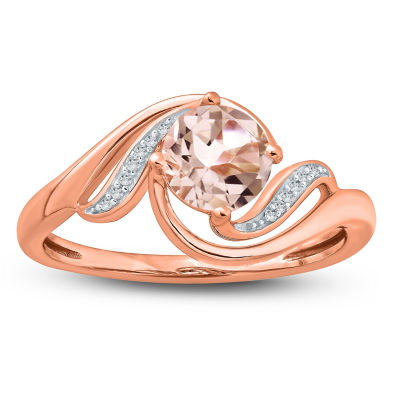 Womens Pink Morganite 10K Gold Cocktail Ring