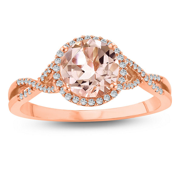 Fine Jewelry Womens Genuine Pink Morganite 10K Gold Cocktail Ring wWqzuTbEs