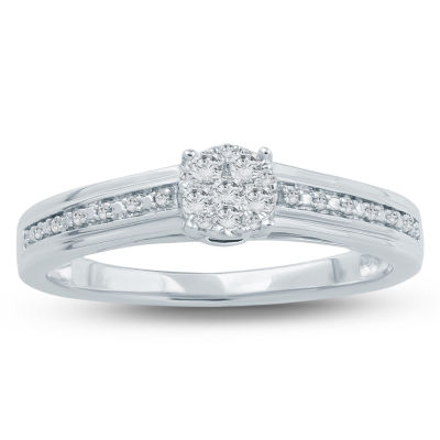 Promise My Love Womens 1/6 CT. T.W. Genuine Round White Diamond 10K Gold Promise Ring