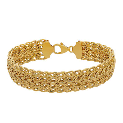 14K Gold 8 Inch Hollow Link Chain Bracelet