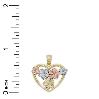 Womens 14K Gold Heart Pendant